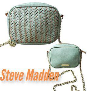 STEVE MADDEN Chain Crossbody Purse - Mint & Orange